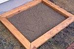 砂場を作る 枠作り編画像