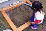 砂場を作る 設置編画像