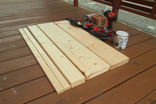 木製スロープの材料