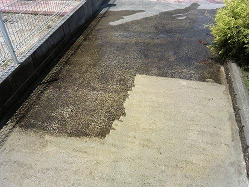 コンクリートを洗浄した結果