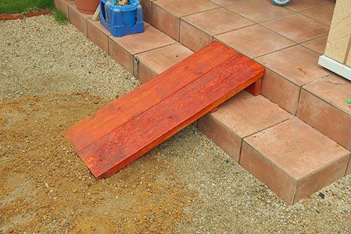 木製スロープの完成写真