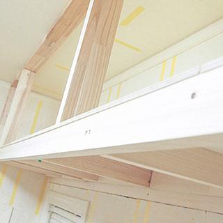 吊り収納の制作-角材を組み合わせフレームを作る